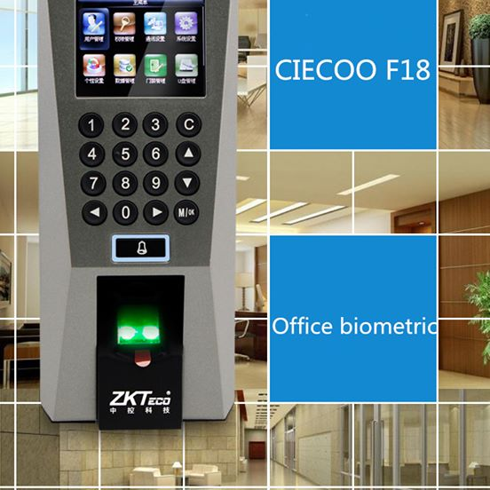 F18 Biometric Time Attendance Access Control Reader